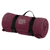 PCP_USciences_Logo/Full Color,  Fleece Blanket with Strap