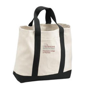 PCP_USciences_Logo/Full Color,  2-Tone Shopping Tote.  ** DESIGN IS EMBROIDERED ON OPPOSITE SIDE OF POCKET**