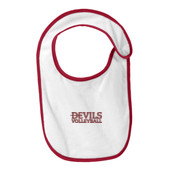 Devils_Volleyball_Logo/Maroon, -  Infant Terry Bib