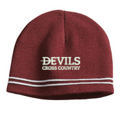 Devils_Cross Country_Logo/White, Beanie