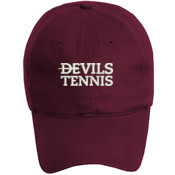 Devils_Tennis_Logo/White, YOUTH, Baseball Cap, Twill