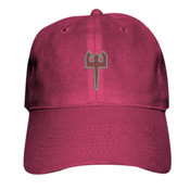 ADULT Baseball Cap, Trident/Grey and Maroon