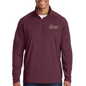ADULT, Sport-Wick® Stretch 1/2-Zip Pullover, USciences_Logo/White