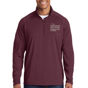 ADULT Sport Wick ® Stretch 1/2 Zip Pullover, PCP_Logo_Stacked/White