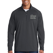 ADULT Sport Wick ® Stretch 1/2 Zip Pullover, SAMSON_Stacked_Logo/White