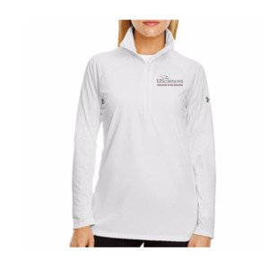 LADIES' UNDER ARMOR TECH QUARTER-ZIP, USciences_Full Color