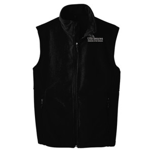 ADULT, Full-Zip Fleece Vest USciences_Logo_White