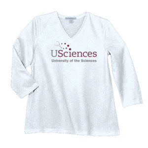 LADIES, T-Shirt, Long Sleeve, USciences_Logo_Full Color