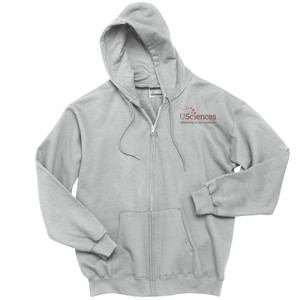 ADULT, Full Zip Hooded Sweatshirt, USciences_Logo_Full Color