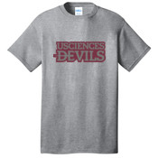 ADULT, Short Sleeve T Shirt Devils_Logo_Maroon_Grey