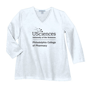 LADIES, Long Sleeve Concert T Shirt PCP_USciences_Stacked_Black