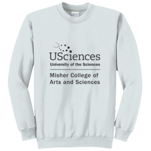 ADULT, Crewneck Pullover Sweatshirt USciences_Misher_Stacked_Black