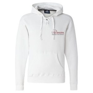 ADULT, Laced Hooded Pullover Sweatshirt, USciences_Logo_Color