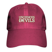 ADULT Twill Cap 2, Devils_Maroon/White