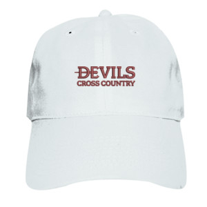 ADULT, Baseball Cap Twill Devils_Cross Country_Logo_Maroon
