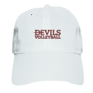 ADULT, Baseball Cap Twill Devils_Volleyball_Logo_Maroon