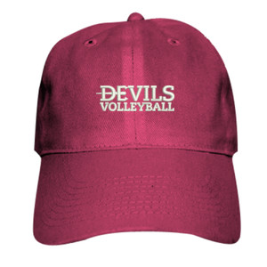 ADULT, Baseball Cap Twill Devils_Volleyball_Logo_White
