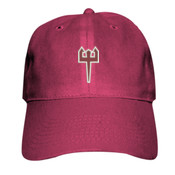 ADULT, Baseball Cap Twill Trident_White_Maroon