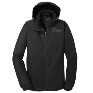 ADULT, Vortex Waterproof 3 in 1 Jacket USciences_White