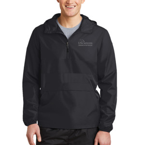 ADULT, Zipped Pocket Anorak USciences_White