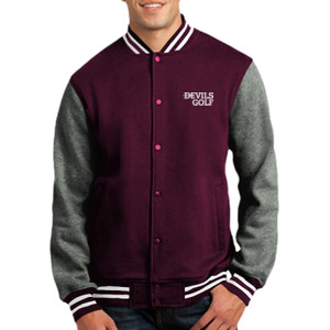 ADULT, Fleece Letterman Jacket Devils_Golf_White