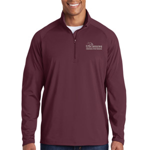 ADULT, Sport-Wick® Stretch 1/2-Zip Pullover USciences_Logo/White