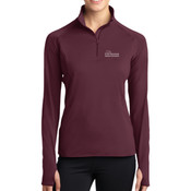 LADIES, Sport-Wick® Stretch 1/2-Zip Pullover USciences_Logo/White