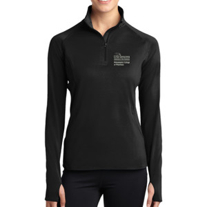 LADIES, Sport Wick ® Stretch 1/2 Zip Pullover PCP_Logo_Stacked_White