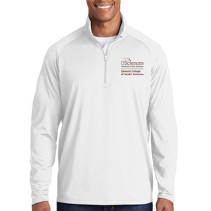 ADULT, Sport Wick ® Stretch 1/2 Zip Pullover Samson_Stacked_Logo_Full Color