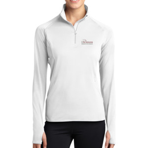 LADIES, Sport-Wick® Stretch 1/2-Zip Pullover USciences_Logo/Full Color