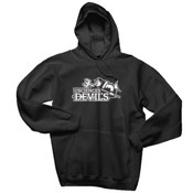 ADULT, Cotton Pullover Hooded Sweatshirt, Devils_Primary_Logo_BW