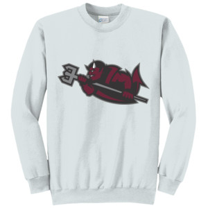 ADULT, Crewneck Sweatshirt, Drake_Devil_Body_Logo_BW