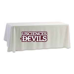 Table Cloth, 8', DEVILS Maroon/White