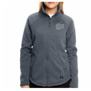 LADIES' UA EXTREME COLDGEAR JACKET, PCP_Stacked_White