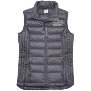 Ladies 32 Degrees  Packable Down Vest, Samson_Stacked_White