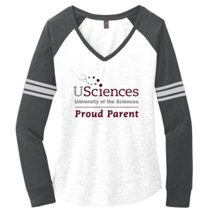 Ladies Game Long Sleeve V Neck Tee, USciences_ProudParent