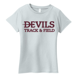 Ladies Essential T Shirt, Track and Field/Maroon