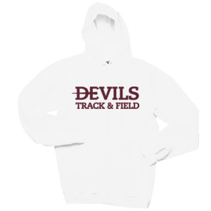 Adult Ultimate Cotton® Pullover Hooded Sweatshirt, Track and Field/Maroon