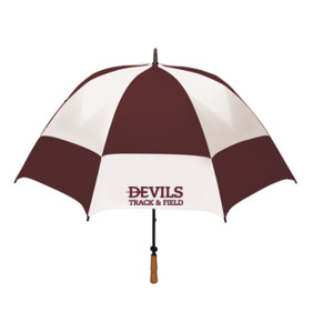"62"" FOLDING GOLF UMBRELLA, Track and Field/Maroon"