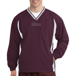 Tipped V Neck Raglan Wind Shirt, Usci_Alumni_One Color