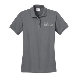 LADIES, Polo Shirt Short Sleeve USciences_Logo_White