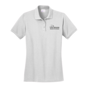 LADIES, Polo Shirt Short Sleeve USciences_Logo_Black