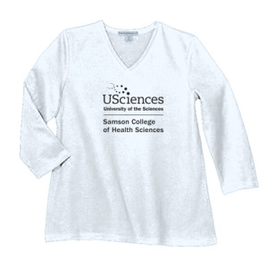 LADIES, Long Sleeve Concert Tee USciences_Samson_Stacked_Black