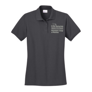LADIES, Short Sleeve Polo Shirt PCP_USciences_Stacked_White