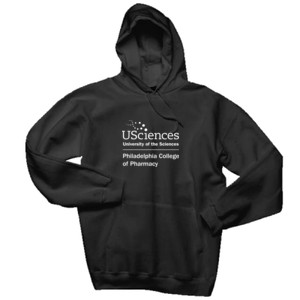 ADULT, Hooded Pullover Sweatshirt PCP_USciences_Stacked_White