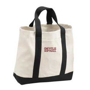 Tote Bag, Devils_Softball_Logo_Maroon