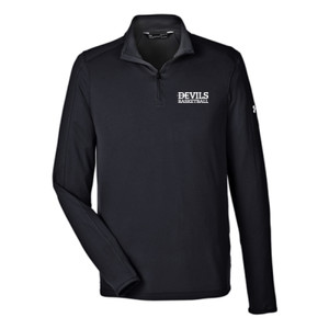 MEN'S UNDER ARMOR TECH QUARTER-ZIP, Devils_Basketball/White