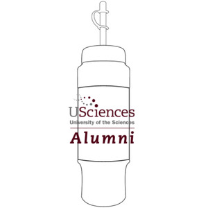 Water Bottle with Kooze, USciences_Alumni