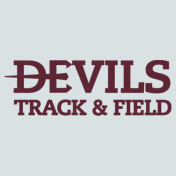 Juniors Concert V Neck Tee, Track and Field/Maroon Design