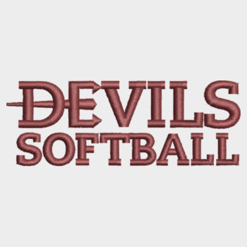 ADULT, Full Zip Hooded Sweatshirt Devils_Softball_Maroon  Design